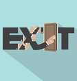 Exit Typography Design vector image vector image