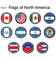 Flags of North America vector image