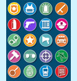 flat law and justice icons set vector image