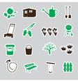 garden symbols stickers eps10 vector image