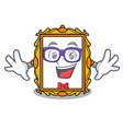 geek picture frame character cartoon vector image