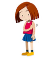Girl having spots on her arms vector image