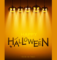halloween design pumpkins with light from eyes vector image vector image