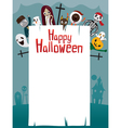 Halloween Ghost on Frame vector image vector image