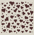 Hand drawn of different lovely hearts vector image