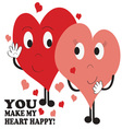 Heart Happy vector image vector image