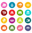 helmet icons set colorful circles vector image vector image