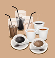 Hot Iced Coffee Background vector image