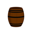isolated wooden beer barrel icon vector image vector image