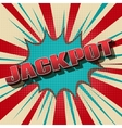 Jackpot comic retro background vector image vector image