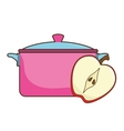 kitchen pot utensil vector image vector image