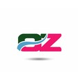 Letter o and z logo vector image vector image