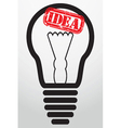 Light idea bulb with grunge stamp vector image
