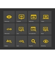 Monitoring icons vector image vector image