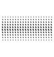 mouse cursor shape halftone pattern vector image vector image