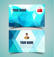 name card template6 vector image vector image
