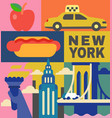 new york culture travel set vector image vector image