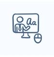 Online education sketch icon vector image vector image