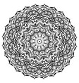 ornament circular mandala black white ornamental vector image