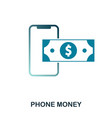 phone money icon flat style icon design ui vector image