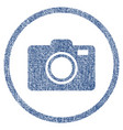 Photo camera rounded fabric textured icon