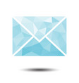 polygon envelope mail icon on white background vector image vector image