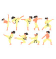 professional martial arts sportsman funny vector image vector image