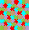 Puzzle pattern color vector image vector image