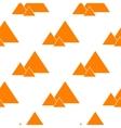 seamless orande pyramids vector image vector image