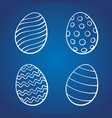 set doodles easter eggs vector image