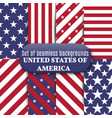 set of american seamless background vector image