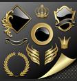 set of heraldic elements vector image vector image