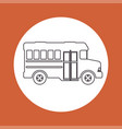 silhouette bus transport icon design orange vector image