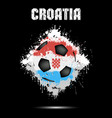 soccer ball in the color of croatia vector image
