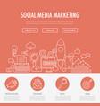 social media marketing landing vector image vector image
