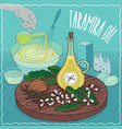 taramira oil used for cooking vector image vector image