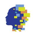 techno human head vector image