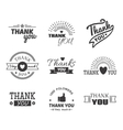 Thank you text lettering badge vector image vector image