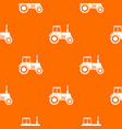 tractor pattern seamless vector image vector image