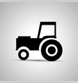 tractor silhouette side view simple black icon vector image vector image