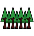 trees forest icon image vector image vector image