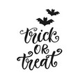 trick or treat halloween party poster lettering vector image vector image