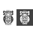 vintage monochrome surfing sport print vector image vector image