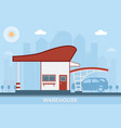 warehouse transportation in flat style vector image vector image