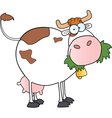 white dairy cow vector image