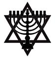 Menorah symbol of Judaism isolated vector image