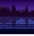 city skyline at night quay vector image