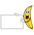 banana cartoon vector image