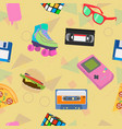 90s themed background vector image vector image
