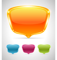 Abstract glossy speech bubbles set vector image vector image